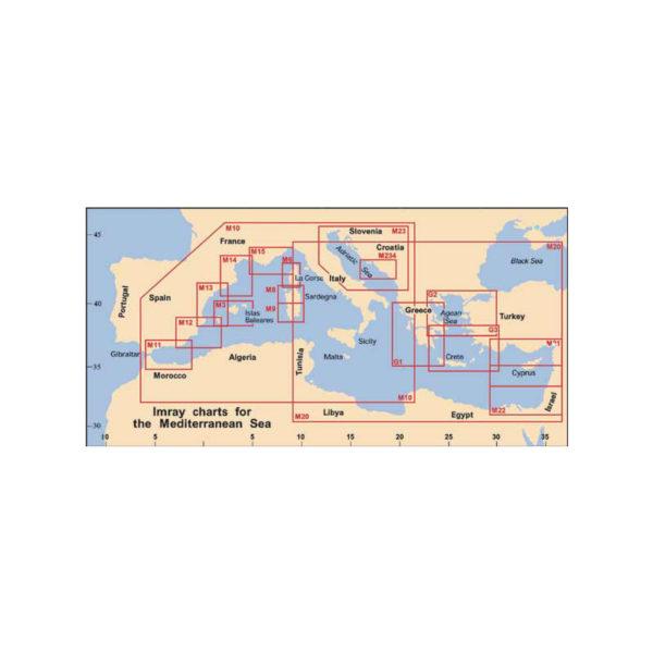 """Πλοηγικός Χάρτης Δυτικής Μεσογείου M10, """"Δυτική Μεσόγειος"""", Imray"""