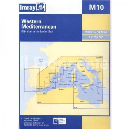 """Πλοηγικός Χάρτης M10 """"Δυτική Μεσόγειος"""""""