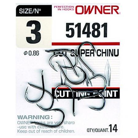 Αγκίστρια Owner Cut Super Chinu 51481